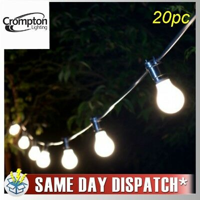 20 Piece Frosted Festoon / Party String Light Kit 20M Crompton Lighting
