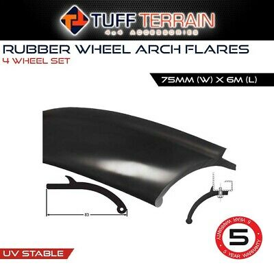 EPDM RUBBER FLEXIBLE WHEEL ARCH FLARES 6M x 75MM WIDE FOR 4WD 4X4 VEHICLE