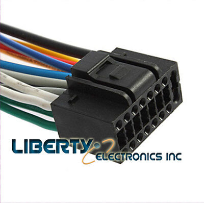 new 22 pin wire harness for kenwood ddx 896 player $11 89 picclicknew 16 pin auto stereo wire harness plug for jensen uv10 player