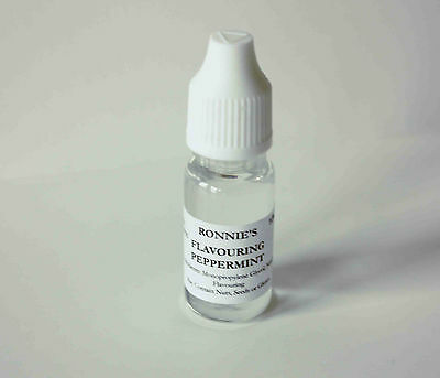 Set of 2 Peppermint Edible Concentrated Liquid Flavourings, Baking Icing Sweets