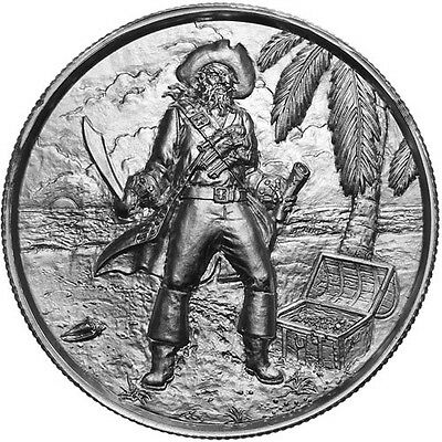 Privateer Series - The Captain   Ultra High Relief 2 oz .999 Silver Round