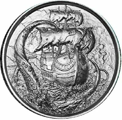 Privateer Series - The Kraken | Ultra High Relief 2 oz .999 Silver Round