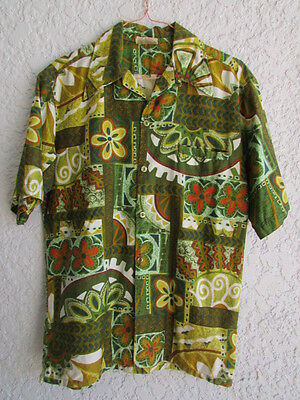 Vintage Barefoot In Paradise Men's Short Sleeve Camp Shirt Size Small