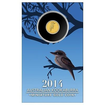 Perth Mint Australia $ 2 2014 Mini Kookaburra 1/2 g 0.5 g gram .9999 Gold Coin