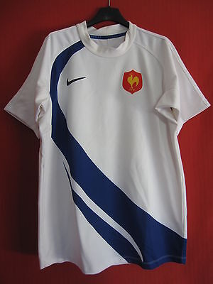 Maillot Rugby Nike Equipe France Exterieur Blanc Vintage - S