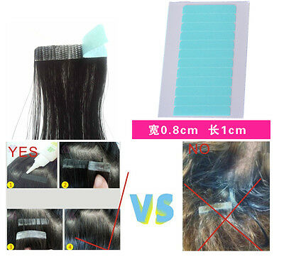 12 Tabs Blue Lace Front Support Tape/Glue human hair Extension Replacement 2016