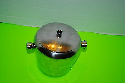 5 1/2 inch tall 5 1/2 inch wide stainless steel ice bucket with lid