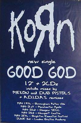 "40x60"" HUGE SUBWAY POSTER~KoЯn Good God Life Is Peachy 1996 ADIDAS Remixes Korn~"