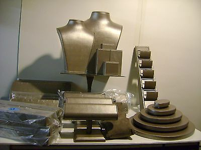 Chippenhook  Khaki Taupe Grey Color Magnetic Jewelry Display Set 26