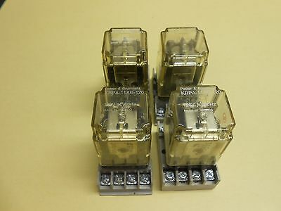 Potter & Brumfield Relay KRPA-11AG-120 with Base , lot of 4