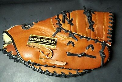 Champro 12 Inch Right Hand Throw Baseball/ Softball Glove 880 CPX Model Leather