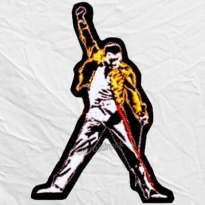 Queen Embroidered Patch Freddie Mercury Raising Hand Tribute Image Brian May