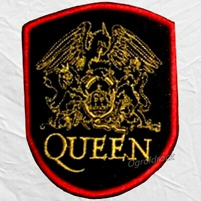 Queen Shield & Word Embroidered Patch Freddie Mercury Roger Taylor Brian May