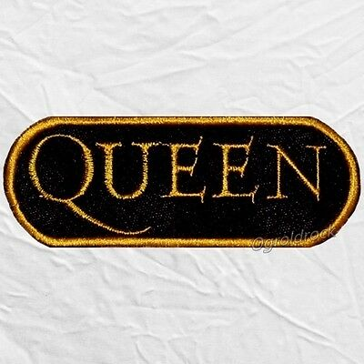 Queen Word Logo Embroidered Patch Freddie Mercury Roger Taylor Brian May Deacon