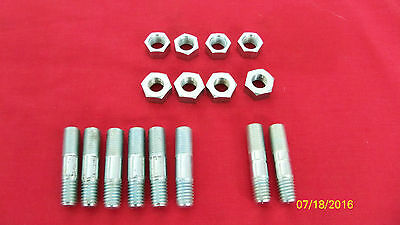 56-68 Triumph 5T 6T T100 T110 Tr5 Tr6 T120 Cylinder Base Studs & Nuts Uk Made