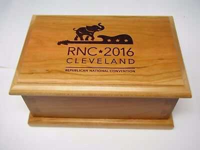 RNC Republican National Convention Wood Box Donald Trump High Quality