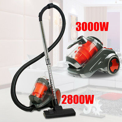 2800W & 3000W Bagless Cyclonic Vacuum Cleaner Filtration System Floor Brush Fast