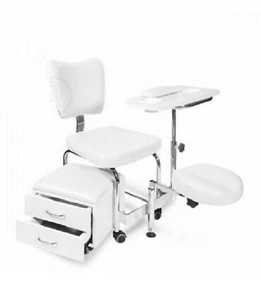 White DUO Pedicure Manicure Spa Chair & Stool Spa Equipment  Supplies Beauty