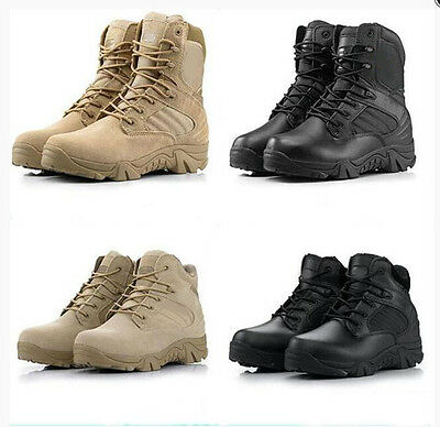 7580 Men's Military Tactical Ankle Boots Desert Combat Army Hiking Shoes AU 4-11