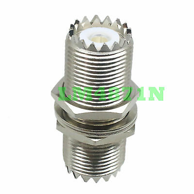 1pce Adapter UHF female M16 nut bulkhead to SO239 jack panel mount connector