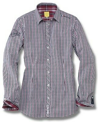 Womens Blue Red Medium Gingham Slim Fit Shirt – Genuine Vw Beetle Collection