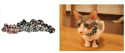 Collier pour chat Camouflage Vert Boucle Strass