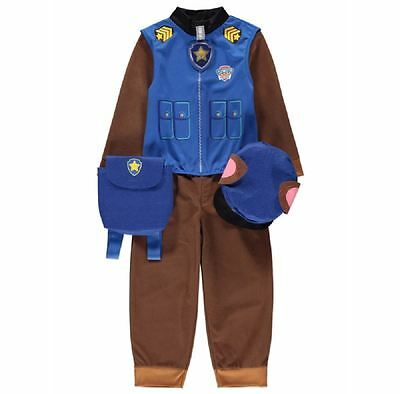 New George Paw Patrol Chase Childrens Fancy Dress Outfit Costume