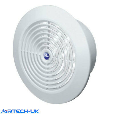 """Air Vent Grille Grid Circle Ducting Ventilation Cover 150mm 6"""" Round Ceiling T66"""
