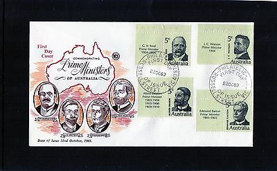 1969 Prime Ministers Set Of 4 With Tabs Wesley FDC, Unaddressed, Mint Condition