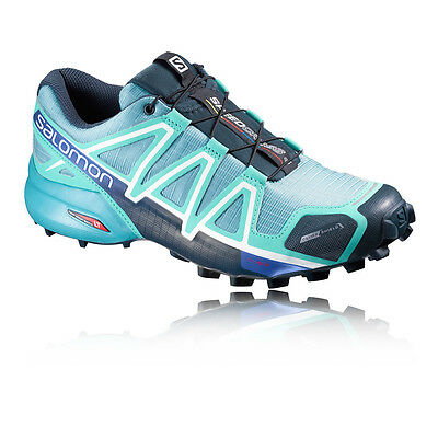 Salomon Speedcross 4 Cs Femmes Vert Bleu Running Chaussures Baskets Sneakers