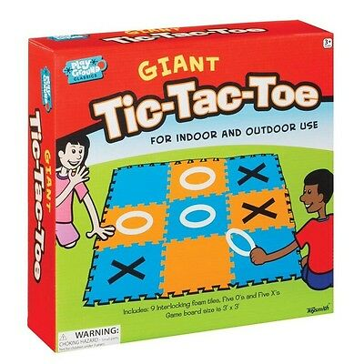 Giant Tic Tac Toe & Hopscotch Game Indoor Outdoor Activity 3 Foot Board