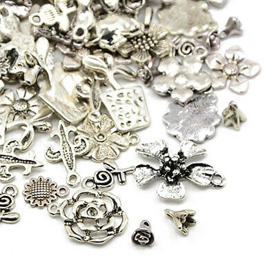 Flower Charm/Pendant Tibetan Antique Silver 5-40mm  30 Grams Accessory Jewellery