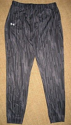 UNDER ARMOUR Women's XL Fitted Cold Gear Pants Gray Print NWOT
