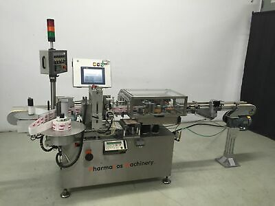 Refurbished Aesus Rotary Labeler With Herma H400, Smartdate Coder, Optel Vision