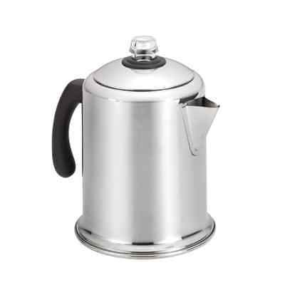 Farberware Stainless Steel 8-Cup Coffee Maker Percolator Stove Top Brewer Pot