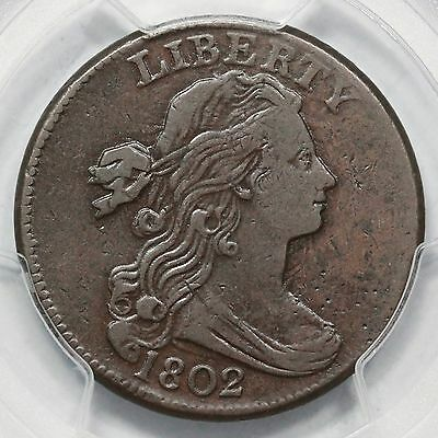 1802 S-227 R-2 PCGS VF 35 Draped Bust Large Cent Coin 1c