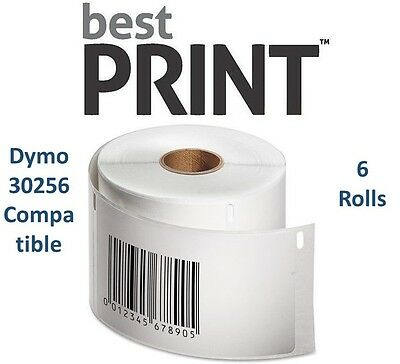 "6 Rolls of 300 Labels 2 5/16"" x 4""  For DYMO® LabelWriter® 30256 Compatible"