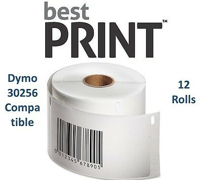 """12 Rolls of 300 Labels 2 5/16"""" x 4""""  For DYMO® LabelWriter® 30256 Compatible"""