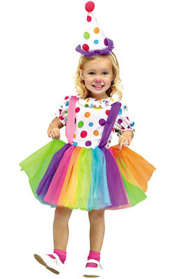 Brand New Circus Clown Big Top Fun Toddler Halloween Costume