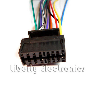 new 16 pin auto stereo wire harness plug for sony cdxgt350