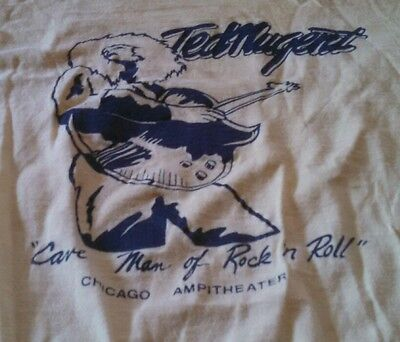Scarce Vintage Original 1977 Ted Nugent Chicago Amphitheater Tour Shirt!! Sweet!