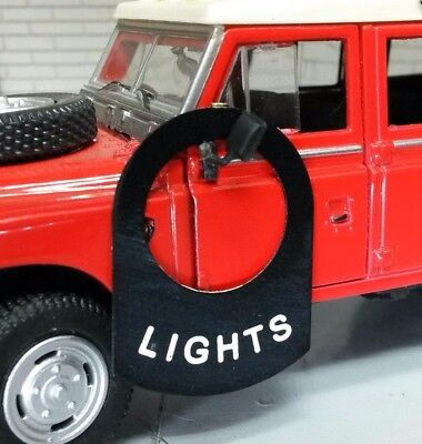 Land Rover Series 1 2 2a 2b 3 Toggle Switch Tab Tag Decal Label Badge Lights
