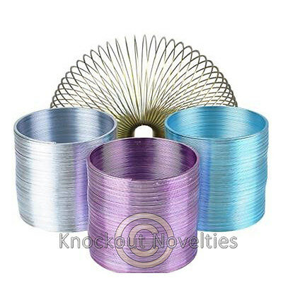 """2.4"""" Metal Coil Spring Fun Slinky Toy Novelty Gift Item"""