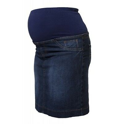 Maternity Skirt - Denim with waist band.
