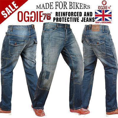 Men's Motorbike Motorcycle Jeans Made With Reinforced protective Lining Denim