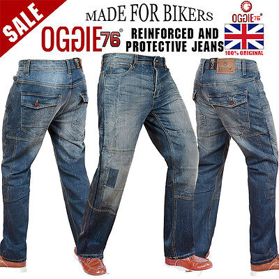 Mens Motorbike Motorcycle Jeans Reinforced Denim With Protective Lining Trouser,