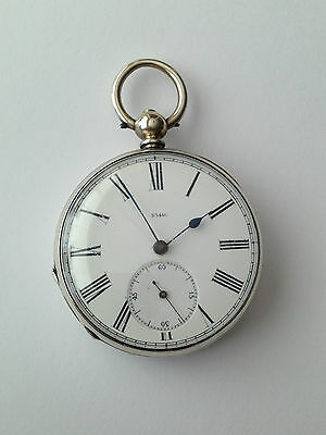 Antique Unusual Solid Silver 33446 Pocket watch J.W Rare Working