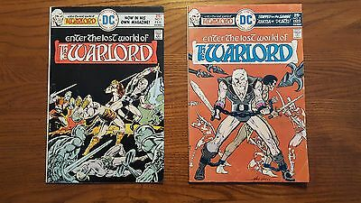 WARLORD # 1 & 2 - ENTER THE LOST WORLD OF THE WARLORD - MIKE GRELL DC Comics