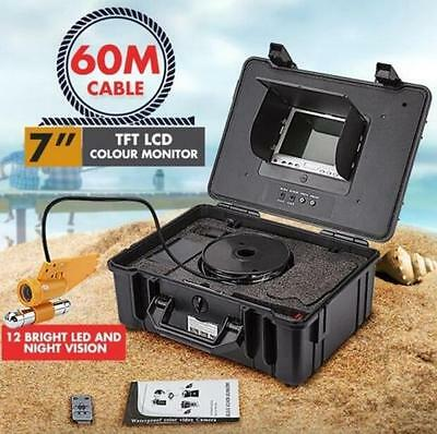 """7"""" Video Camera System Colour TFT LCD Screen 60m Underwater Fishing Fish Finder"""