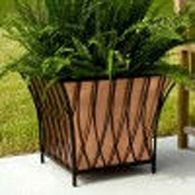 COPPER PLANTER  Square with Iron Frame
